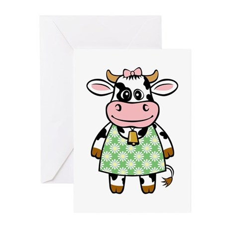 Dressed Up Cow Greeting Cards (Pk of 20)