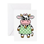 Dressed Up Cow Greeting Card