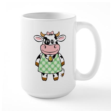 Dressed Up Cow Large Mug