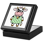 Dressed Up Cow Keepsake Box