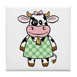 Dressed Up Cow Tile Coaster