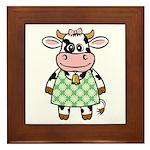 Dressed Up Cow Framed Tile