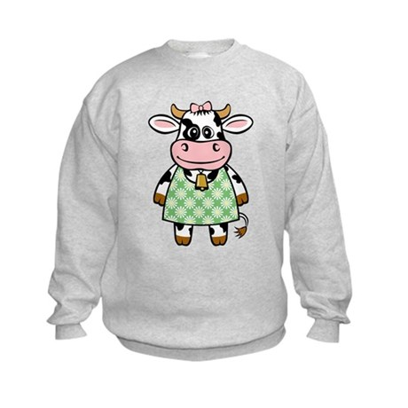 Dressed Up Cow Kids Sweatshirt
