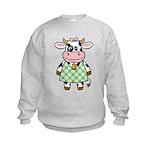 Dressed Up Cow Kids Sweatshirt