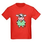Dressed Up Cow Kids Dark T-Shirt