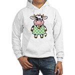 Dressed Up Cow Hooded Sweatshirt