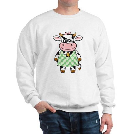 Dressed Up Cow Sweatshirt