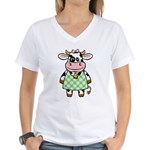 Dressed Up Cow Women's V-Neck T-Shirt