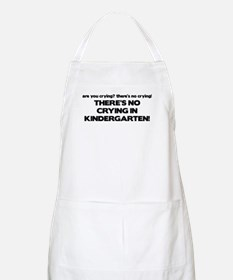 There's No Crying Kindergarten BBQ Apron