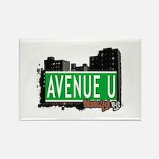 AVENUE U, BROOKLYN, NYC Rectangle Magnet
