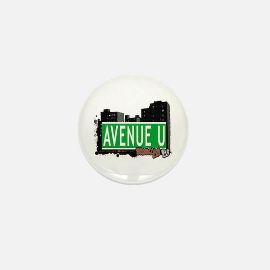 AVENUE U, BROOKLYN, NYC Mini Button