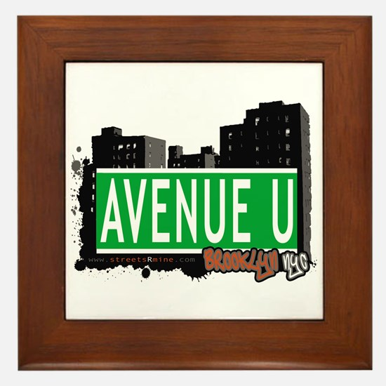 AVENUE U, BROOKLYN, NYC Framed Tile