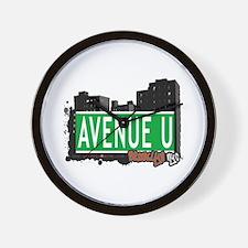 AVENUE U, BROOKLYN, NYC Wall Clock