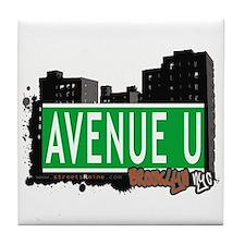 AVENUE U, BROOKLYN, NYC Tile Coaster