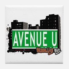 AVENUE U, BROOKLYN, NYC Tile Coaster