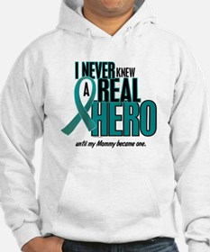 Never Knew A Hero 2 Teal (Mommy) Hoodie