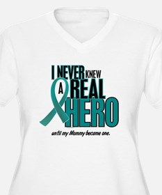 Never Knew A Hero 2 Teal (Mommy) T-Shirt