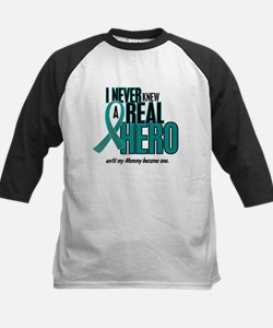 Never Knew A Hero 2 Teal (Mommy) Kids Baseball Jer