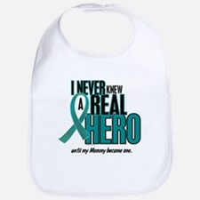 Never Knew A Hero 2 Teal (Mommy) Bib