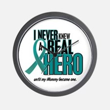 Never Knew A Hero 2 Teal (Mommy) Wall Clock