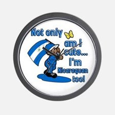 Not only am I cute I'm Nicaraguan too! Wall Clock