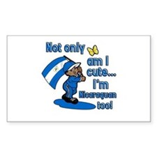 Not only am I cute I'm Nicaraguan too! Decal