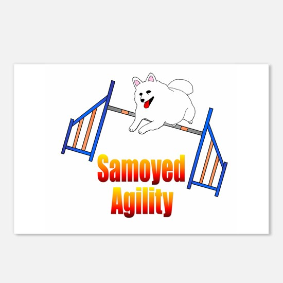 Samoyed Agility Postcards (Package of 8)