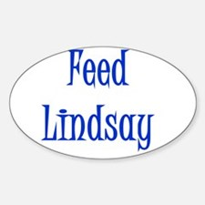 Feed Lindsay 3 Oval Bumper Stickers