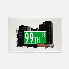 99th STREET, BROOKLYN, NYC Rectangle Magnet