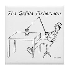 The Gefilte Fisherman Tile Coaster