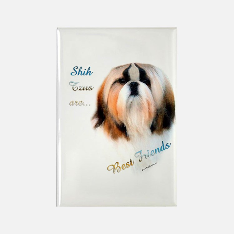 Shih Tzu Best Friend 1 Rectangle Magnet