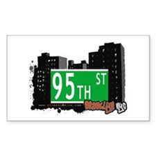 95th STREET, BROOKLYN, NYC Rectangle Decal
