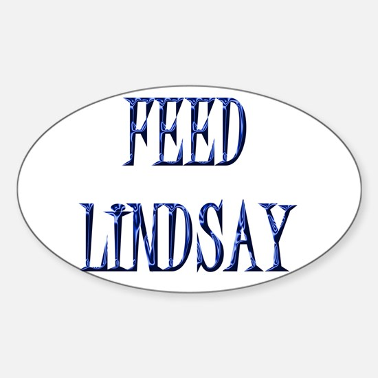 Feed Lindsay 4 Oval Bumper Stickers
