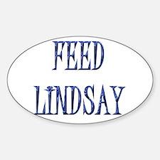 Feed Lindsay 4 Oval Decal
