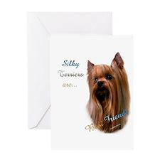 Silky Best Friend 1 Greeting Card
