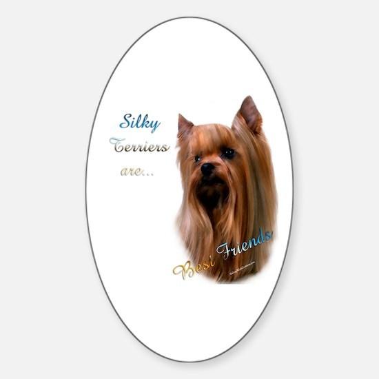 Silky Best Friend 1 Oval Decal