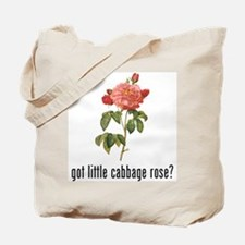 Little Cabbage Rose Tote Bag