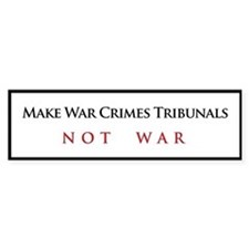 War Crimes Tribunal Bumper Bumper Sticker