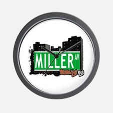 MILLER AV, BROOKLYN, NYC Wall Clock