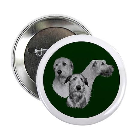 """Irish Wolfhound Dark Green 2.25"""" Button"""