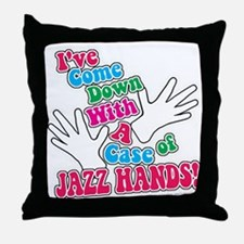 Jazz Hands! Throw Pillow