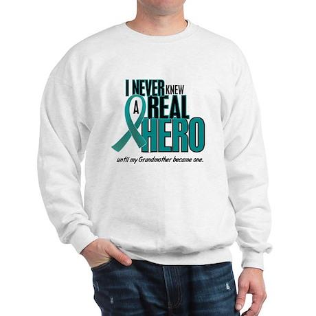 Never Knew A Hero 2 Teal (Grandmother) Sweatshirt