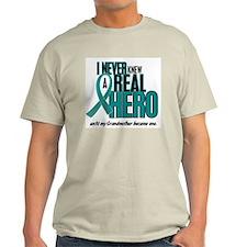 Never Knew A Hero 2 Teal (Grandmother) T-Shirt