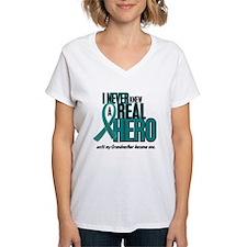 Never Knew A Hero 2 Teal (Grandmother) Shirt