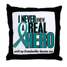 Never Knew A Hero 2 Teal (Grandmother) Throw Pillo