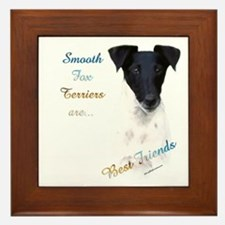 Smooth Fox Best Friend 1 Framed Tile