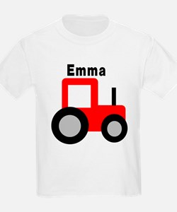 Emma - Red Tractor T-Shirt