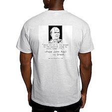 Pope John Paul the Great Ash Grey T-Shirt