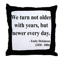 Emily Dickinson 15 Throw Pillow
