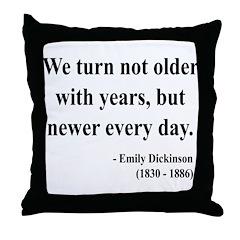 Emily Dickinson 15 Throw Pillow